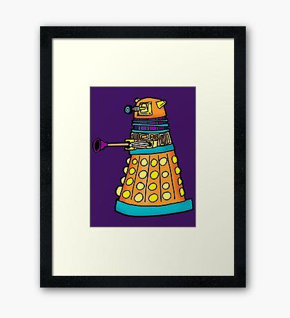 Zack's Little Dalek Framed Print