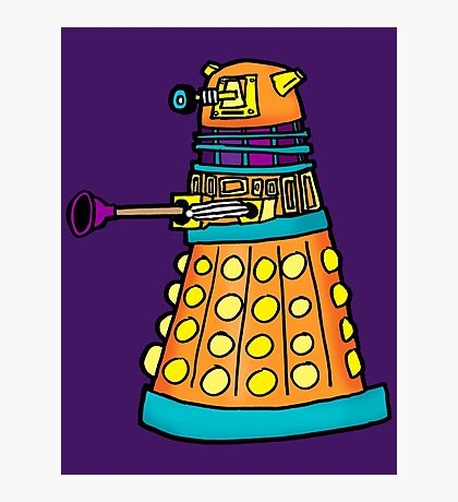 Zack's Little Dalek Photographic Print