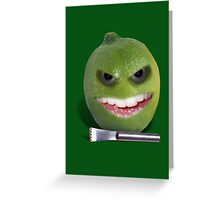 Beware the Lime with the Lemon Zester Greeting Card