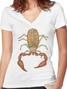 Pseudoscorpion Women's Fitted V-Neck T-Shirt