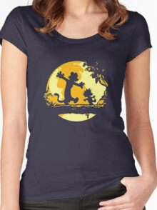 Calvin and Hobbes Tee Shirt Women's Fitted Scoop T-Shirt
