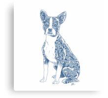 China Boston Terrier Canvas Print