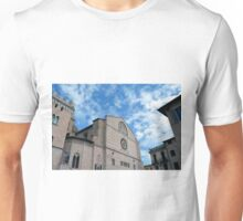 Central square and buildings in Foligno, Italy. Unisex T-Shirt