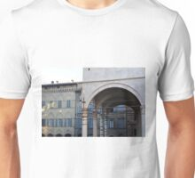 Buildings from Siena with portico and arches Unisex T-Shirt