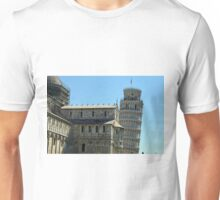 Piazza dei Miracoli complex with the leaning tower of Pisa, Italy Unisex T-Shirt