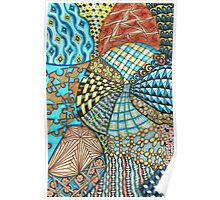Curvy Tangle 4 Poster