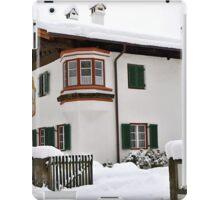 Snowy House, Telfs, Tyrol, Austria iPad Case/Skin