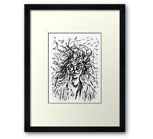 Stray Hair Framed Print