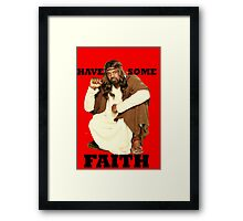 BLACK JESUS Framed Print