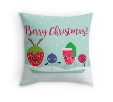 Berry Christmas Throw Pillow