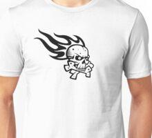 Skull Flame Crossbones Unisex T-Shirt