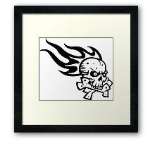 Skull Flame Crossbones Framed Print