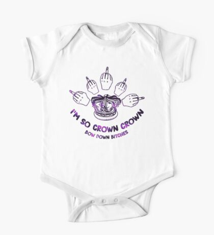 I'm so crown, crown One Piece - Short Sleeve