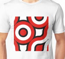 Round red,black,white Unisex T-Shirt