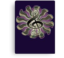 Retro Treble Clef / G Clef Music Symbol Canvas Print