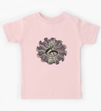 Retro Treble Clef / G Clef Music Symbol Kids Tee