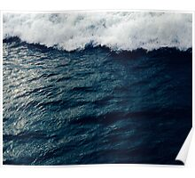 Deep Blue Ocean Wave Poster