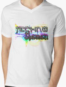 TECHNO SHAMAN Mens V-Neck T-Shirt