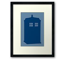 Just A Madman With a Box ver.Tardis Framed Print