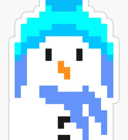 Retro 8 bit snowman Sticker