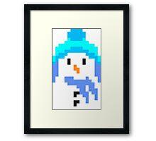 Retro 8 bit snowman Framed Print