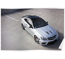 C63 Black Series From Above Poster