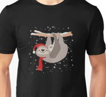 Christmas Festive Cute Sloth  Unisex T-Shirt