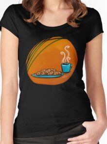 Coffee & Cookies Women's Fitted Scoop T-Shirt