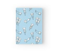 Floatting otters - repeating pattern Hardcover Journal