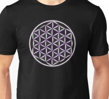 Sacred Geometry: Flower Of Life - Sacred Duality (Purple) Unisex T-Shirt