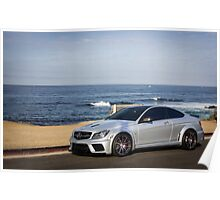 C63 Black Series Along the Coast - 4 Poster