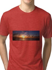 Sunset on Beach Road Panorama Tri-blend T-Shirt