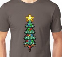 Retro 8 bit christmas tree Unisex T-Shirt