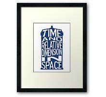 TARDIS Definition Framed Print