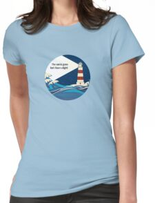 The lighthouse art Womens Fitted T-Shirt