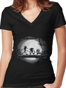 Sonic The Hedgehog - Gaming Matata Women's Fitted V-Neck T-Shirt