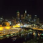 Melbourne at night by collaspics