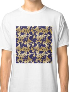 Partridge in a pear tree Christmas gold foil pattern Classic T-Shirt