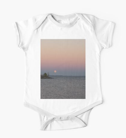 Pink Supermoon Rising One Piece - Short Sleeve