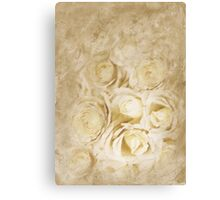 Painted White Roses Canvas Print