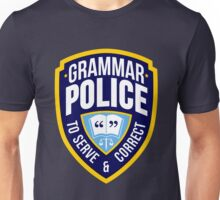 Grammar Police Badge Unisex T-Shirt