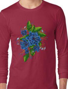 bunch of blue flowers  Long Sleeve T-Shirt