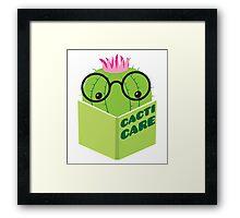 caring for cacti Framed Print