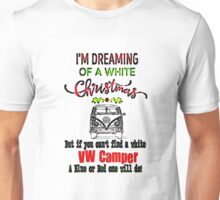 VW Camper White Xmas Unisex T-Shirt