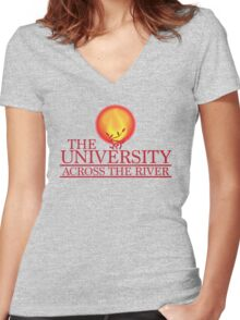 THE UNIVERSITY across the river Women's Fitted V-Neck T-Shirt