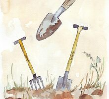My Favourites (garden tools) by Maree  Clarkson