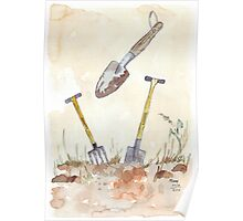 My Favourites (garden tools) Poster