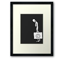 For what time remains.. Framed Print