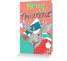 Merry ChristMOOSE Christmas gifts Greeting Card
