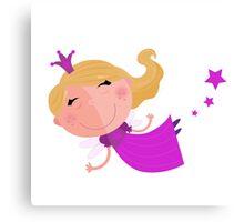 Little cute Pink flying princess Kids artwork Canvas Print